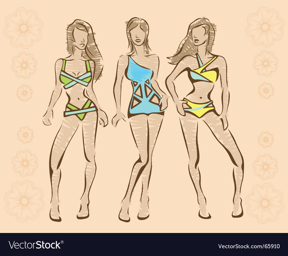 Beachwear vector | Price: 1 Credit (USD $1)