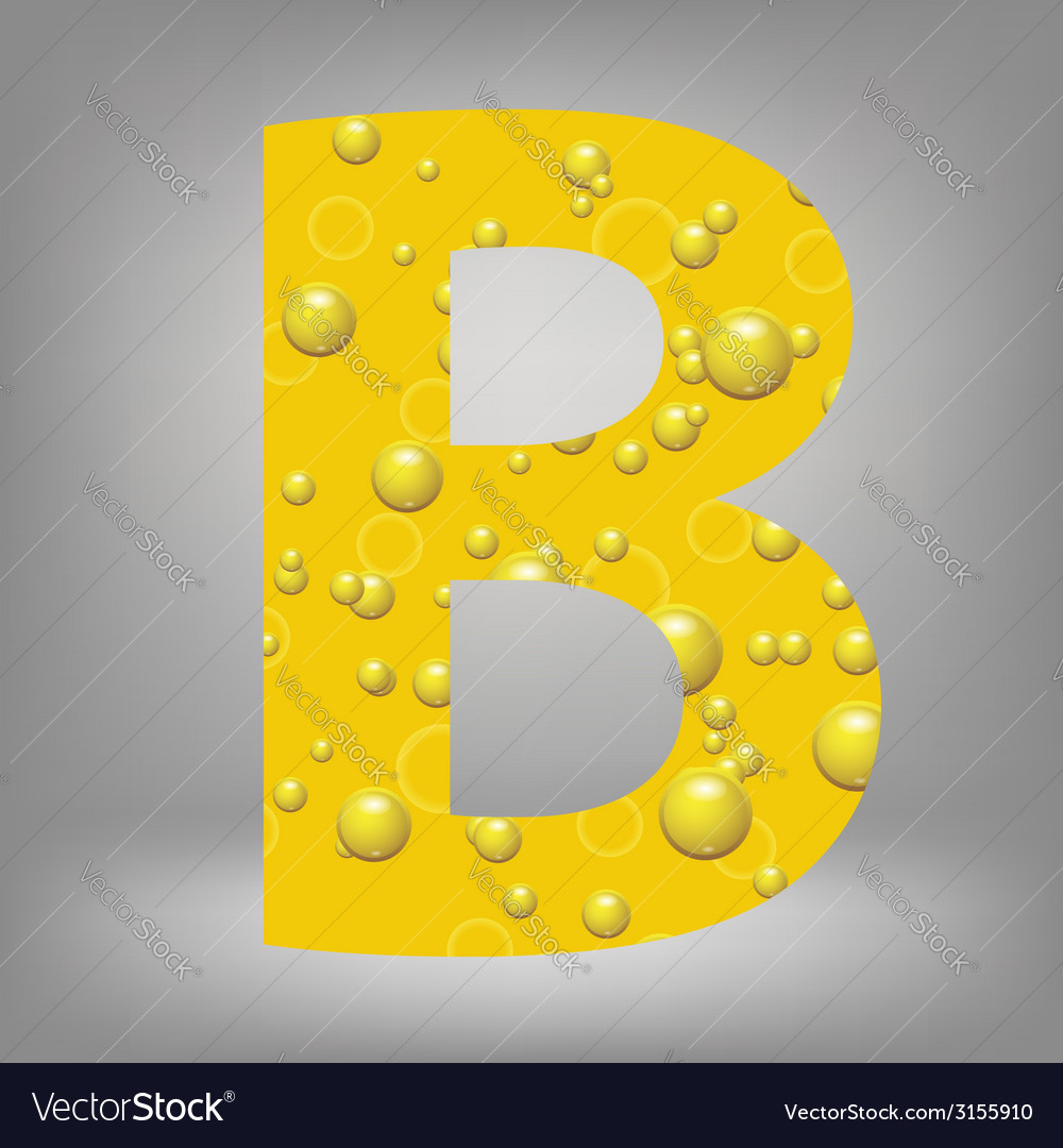 Beer letter b vector | Price: 1 Credit (USD $1)