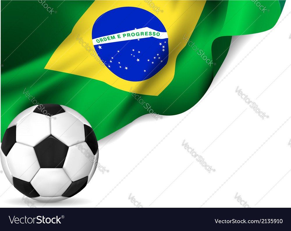 Brasil flag soccer vector | Price: 1 Credit (USD $1)
