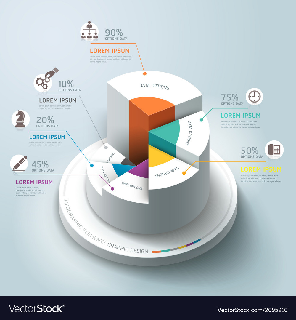 Business infographics circle origami template vector   Price: 1 Credit (USD $1)