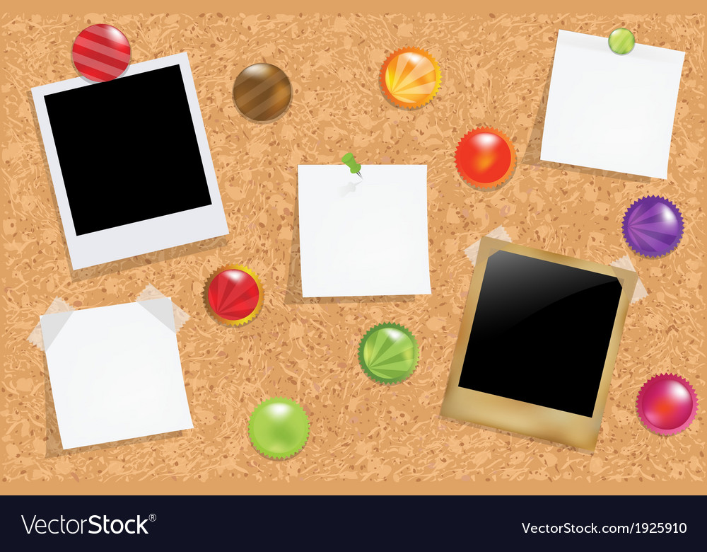 Cork bulletin board vector | Price: 1 Credit (USD $1)