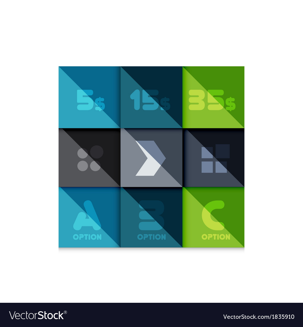 Creative paper flat geometric banner template vector | Price: 1 Credit (USD $1)