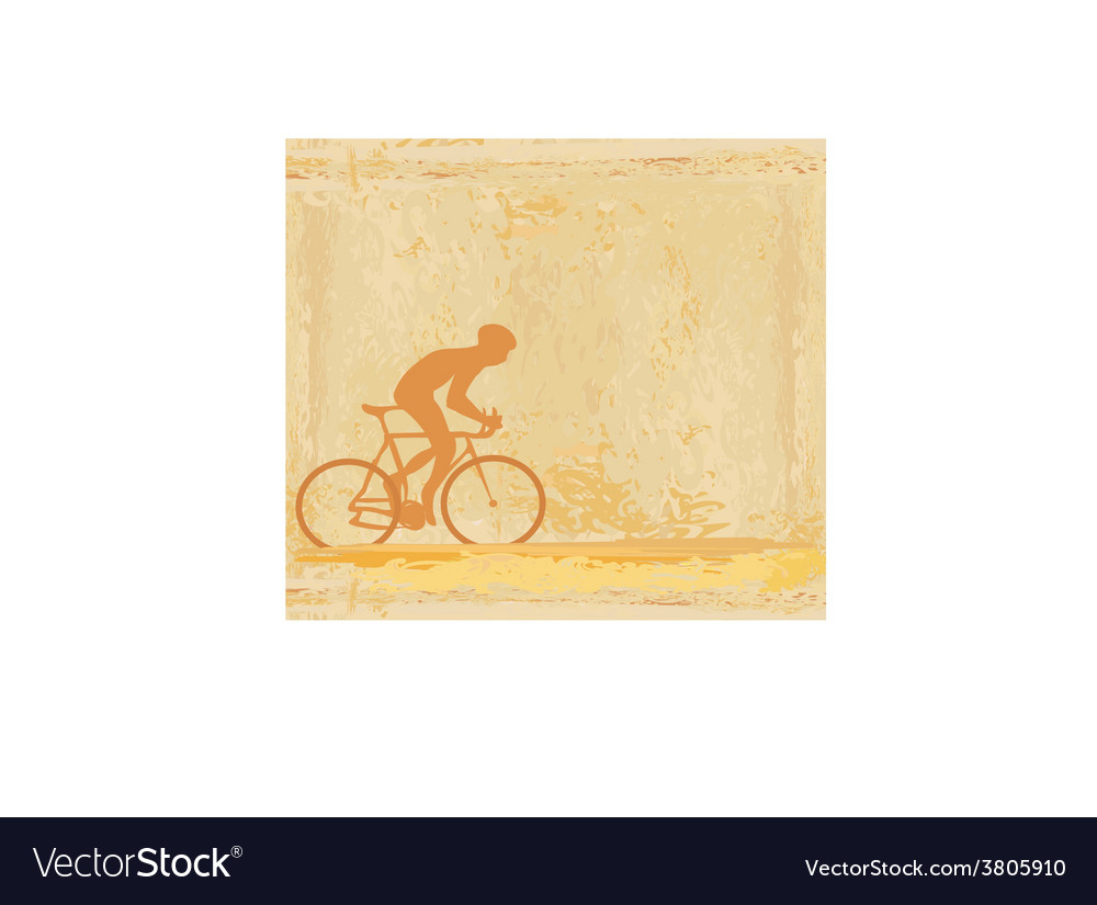 Cycling man silhouette grunge poster template vector | Price: 1 Credit (USD $1)