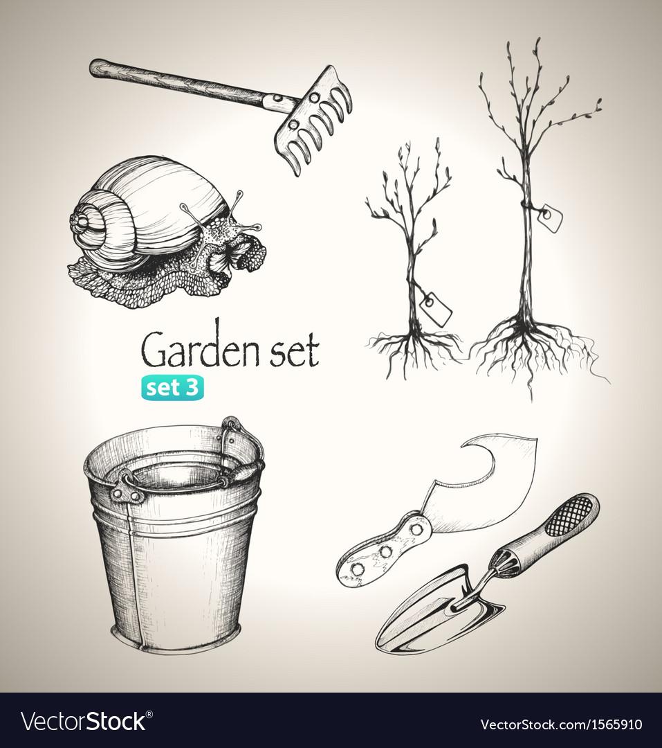 Garden set vector | Price: 1 Credit (USD $1)
