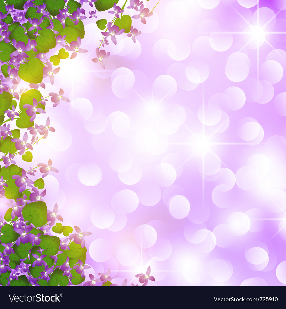 Holiday wild violet vector | Price: 1 Credit (USD $1)
