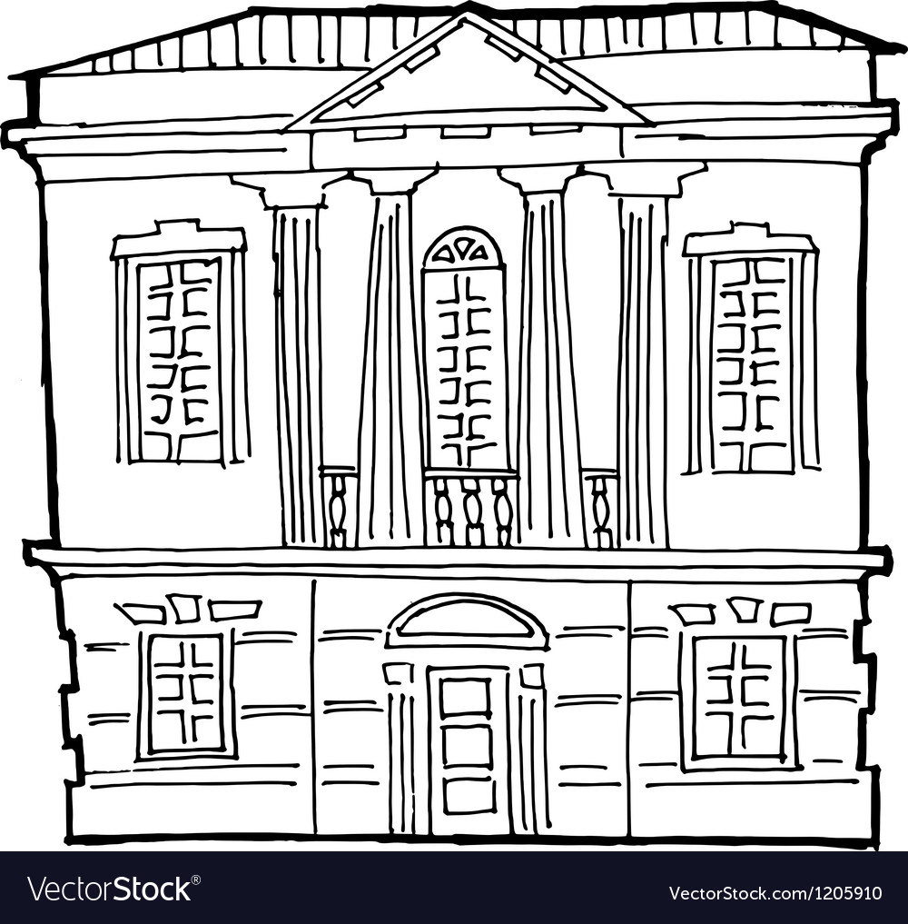 House in classical style vector   Price: 1 Credit (USD $1)
