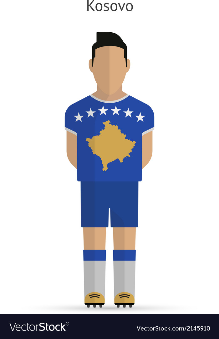 Kosovo football player soccer uniform vector | Price: 1 Credit (USD $1)