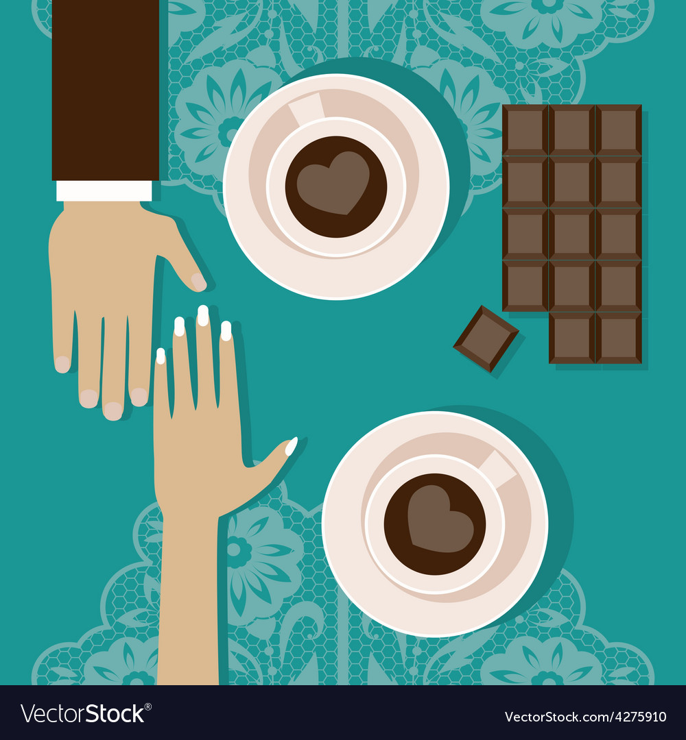 Lovers drink coffee vector | Price: 1 Credit (USD $1)