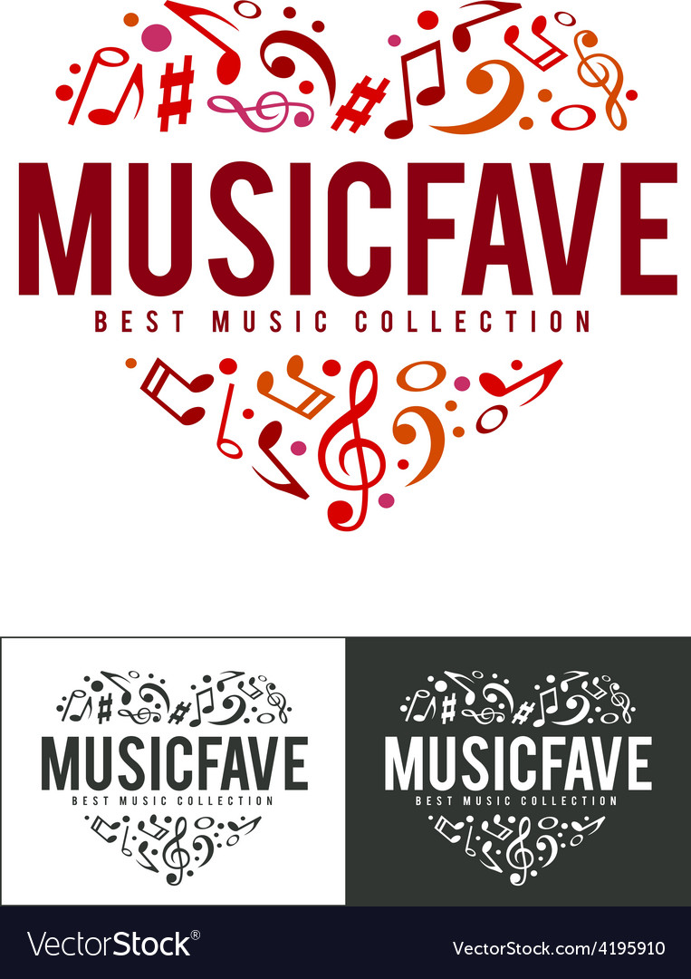 Music fave logo vector | Price: 1 Credit (USD $1)