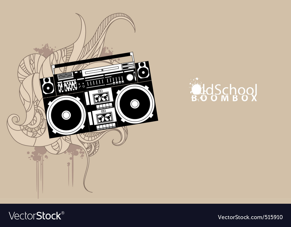 Old school boombox vector | Price: 1 Credit (USD $1)