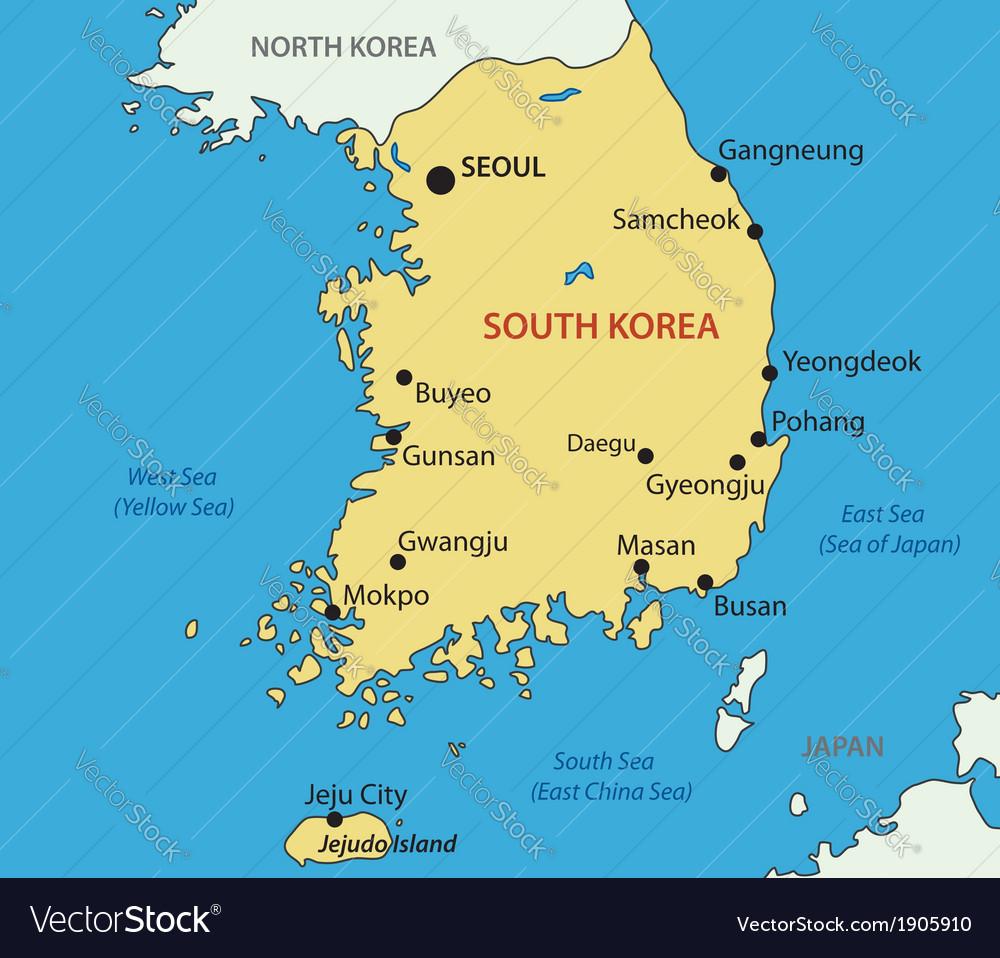 Republic of korea - map vector | Price: 1 Credit (USD $1)
