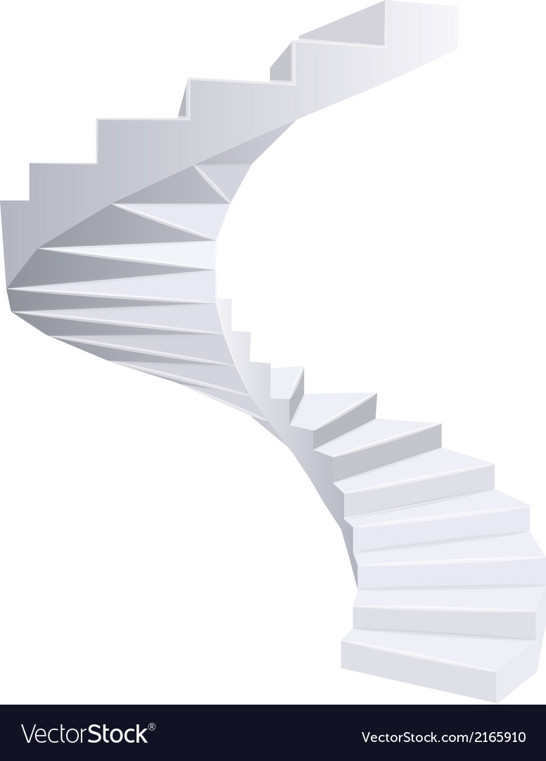 White spiral staircase vector | Price: 1 Credit (USD $1)