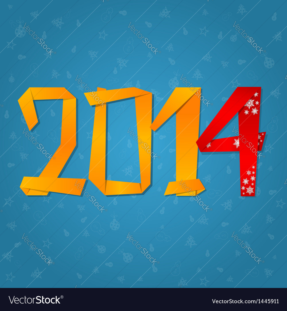 2014 new year celebration card vector | Price: 1 Credit (USD $1)