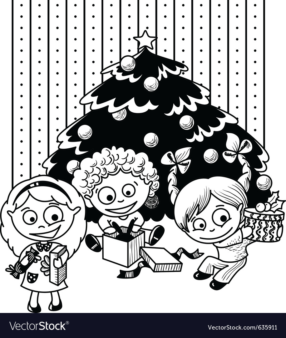 Children sketch vector | Price: 1 Credit (USD $1)