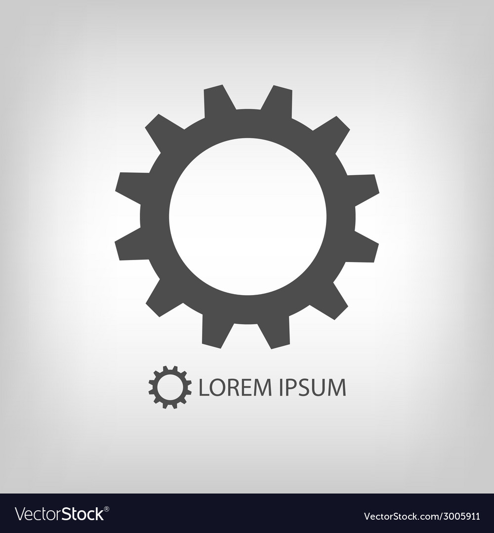 Grey gearwheel vector | Price: 1 Credit (USD $1)