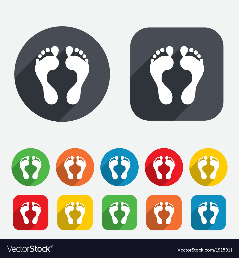 Human footprint sign icon barefoot symbol vector | Price: 1 Credit (USD $1)