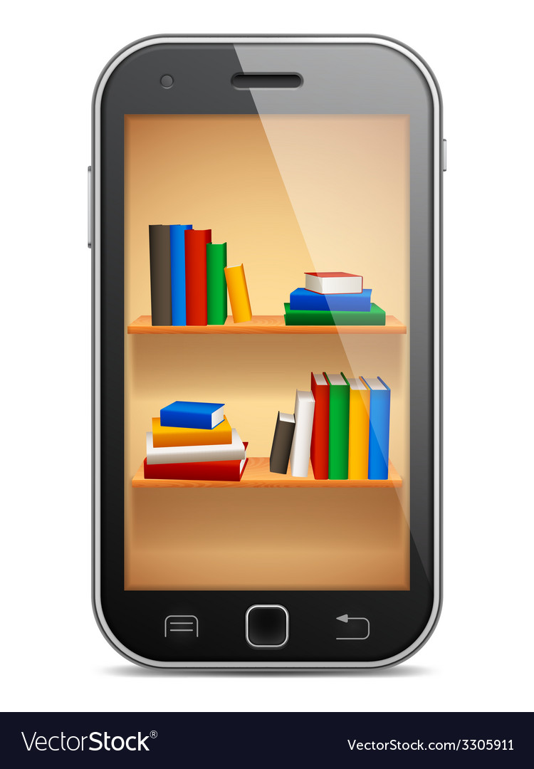 Mobile library vector | Price: 1 Credit (USD $1)