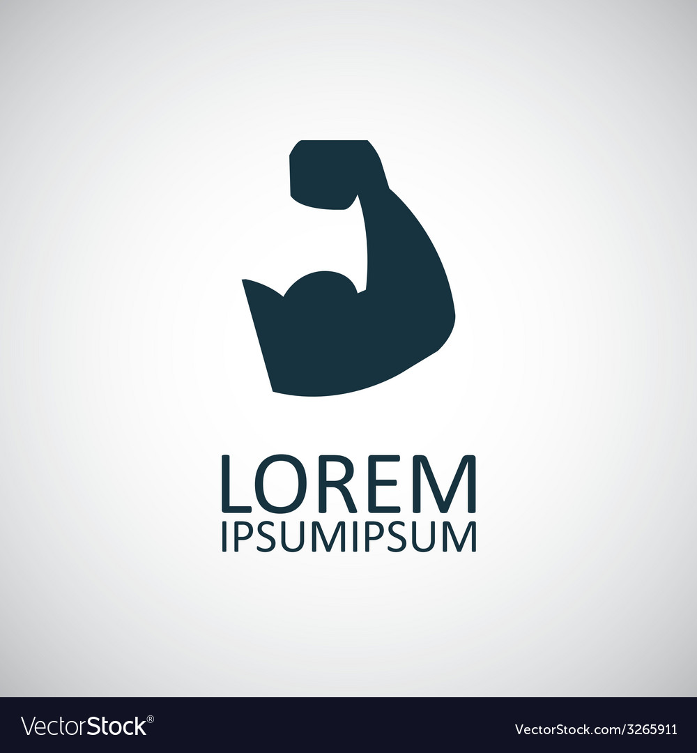 Muscle arm icon vector | Price: 1 Credit (USD $1)