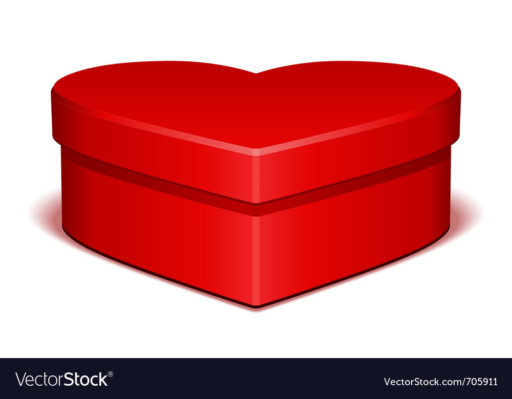 Red shiny heart gift vector | Price: 1 Credit (USD $1)