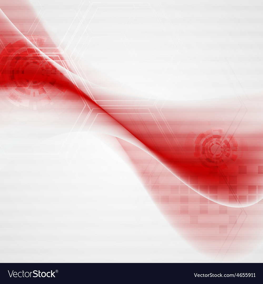 Red wavy tech abstract background vector | Price: 1 Credit (USD $1)