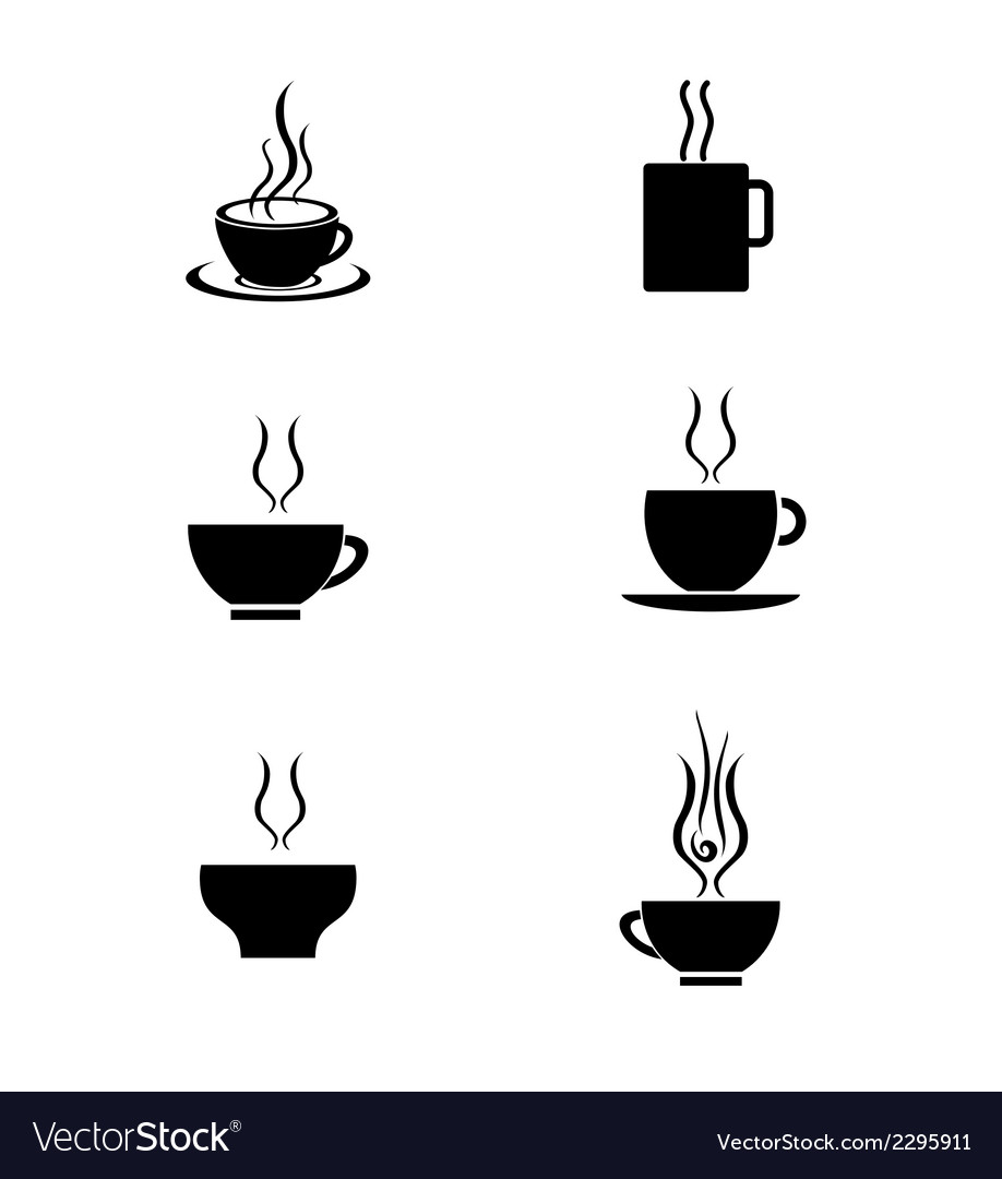 Set of tea cup vector | Price: 1 Credit (USD $1)