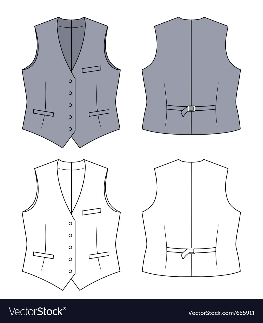 Woman grey waistcoat vector | Price: 1 Credit (USD $1)