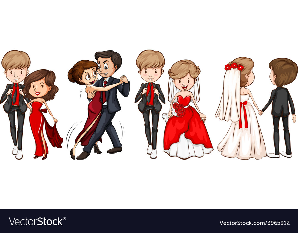 A group of couples vector | Price: 1 Credit (USD $1)