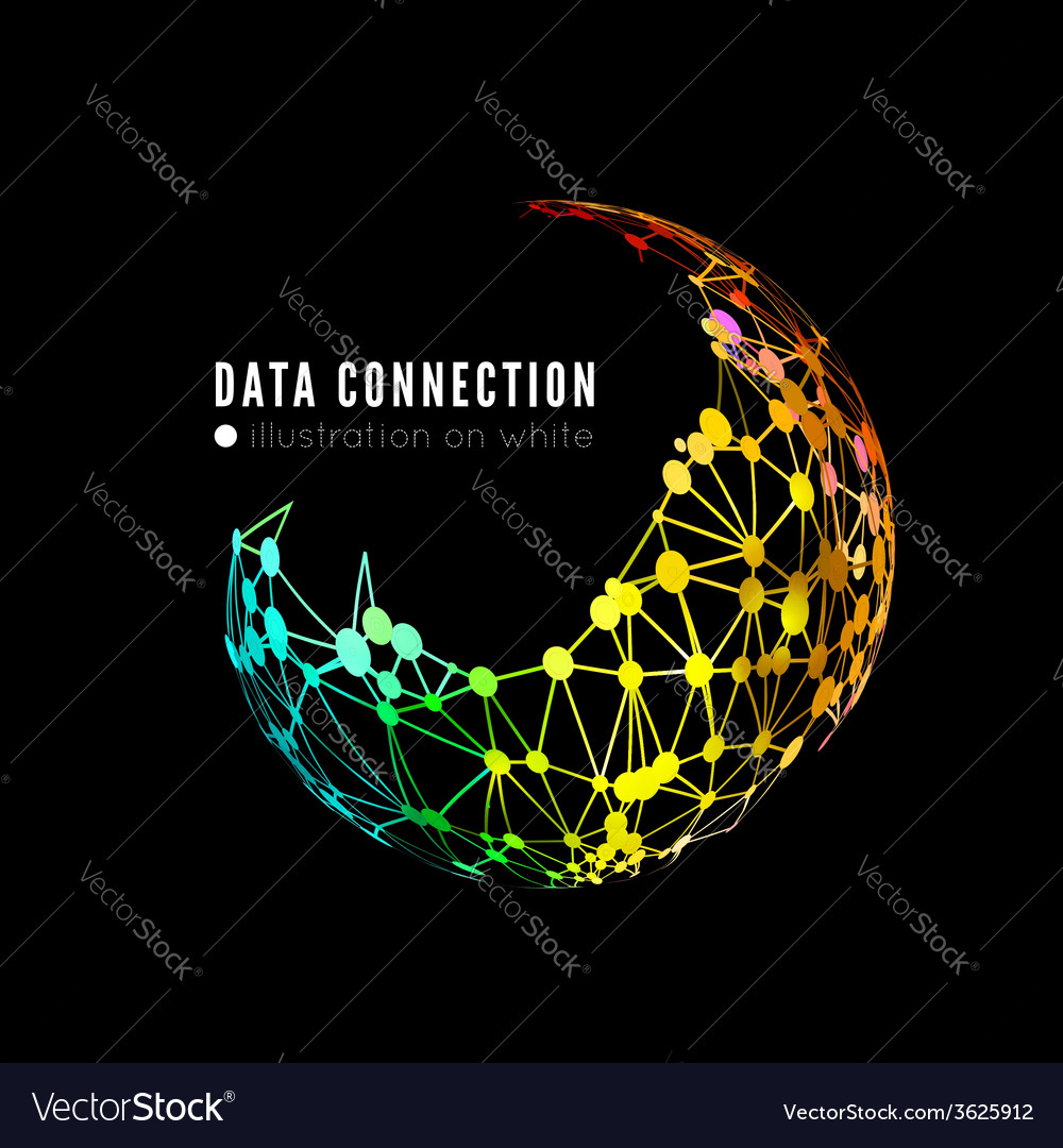 Abstract network connection background vector   Price: 1 Credit (USD $1)