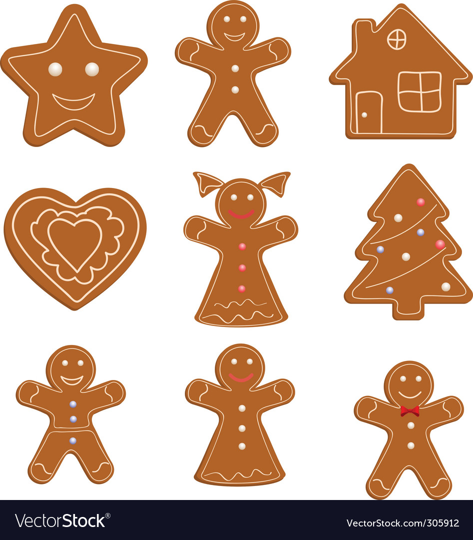 Christmas cookies vector | Price: 1 Credit (USD $1)