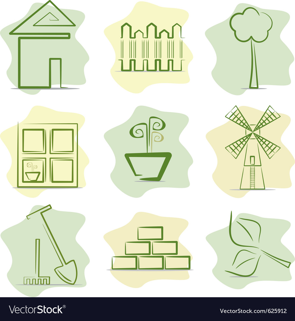 Contryside life and gardening vector   Price: 1 Credit (USD $1)