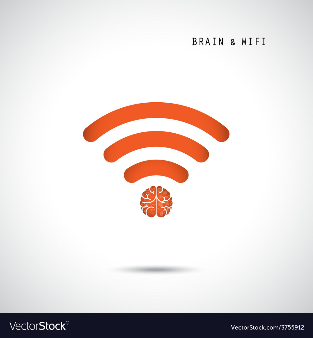 Creative brain concept and wifi sign vector   Price: 1 Credit (USD $1)