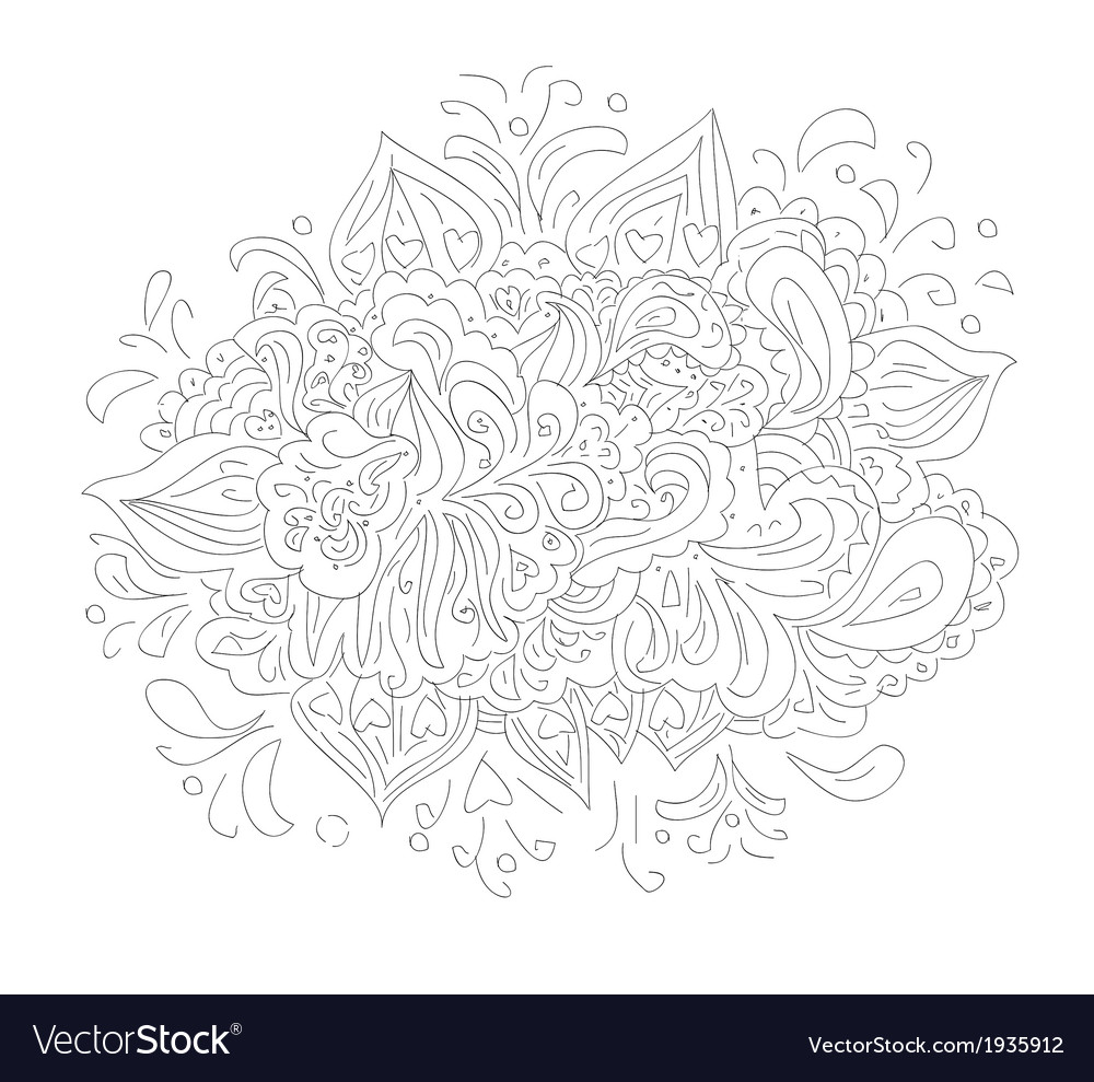 Floral design element pattern vector | Price: 1 Credit (USD $1)