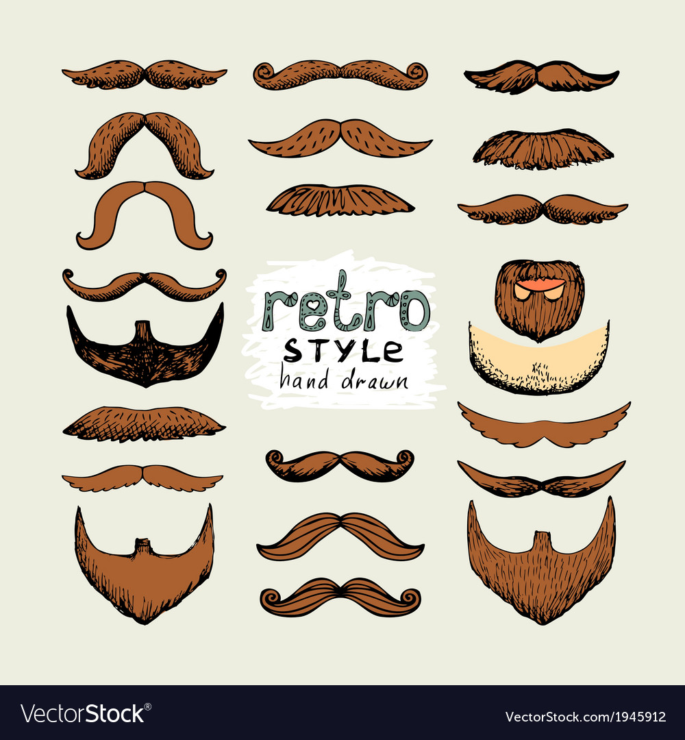 Mustaches and beards vector | Price: 1 Credit (USD $1)