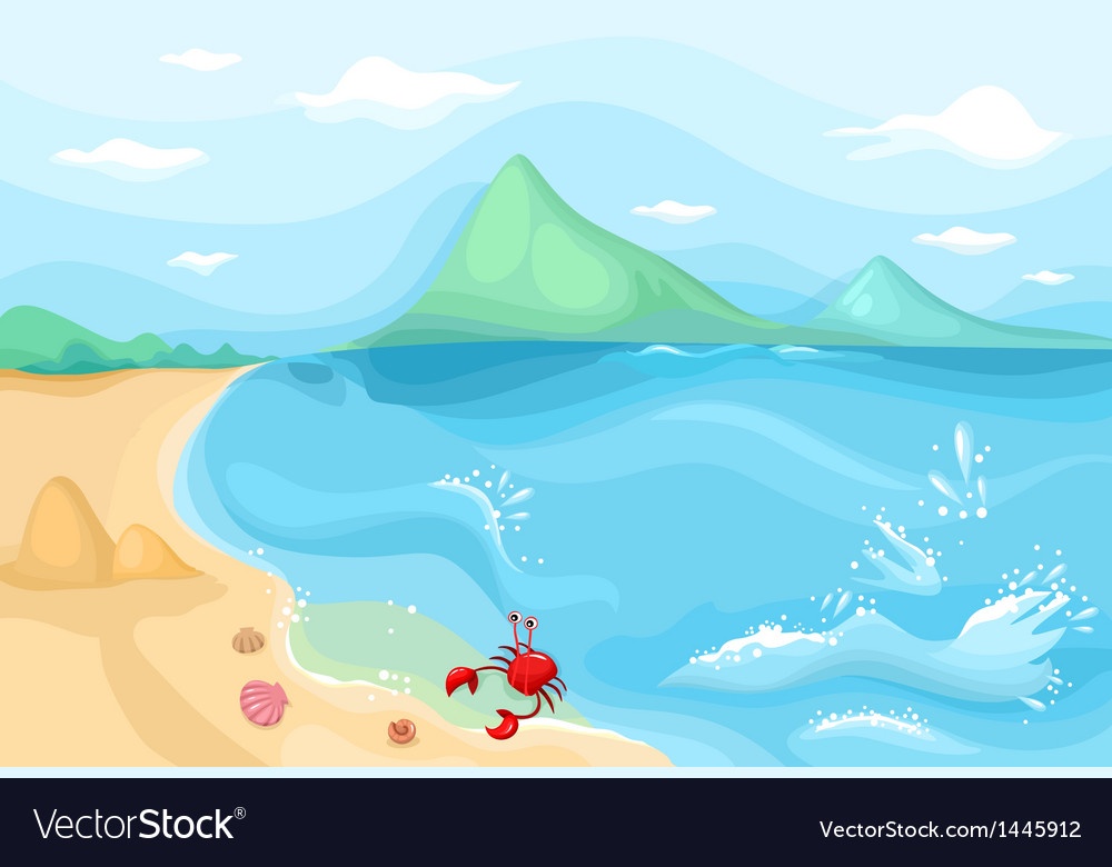 Sea side vector | Price: 1 Credit (USD $1)