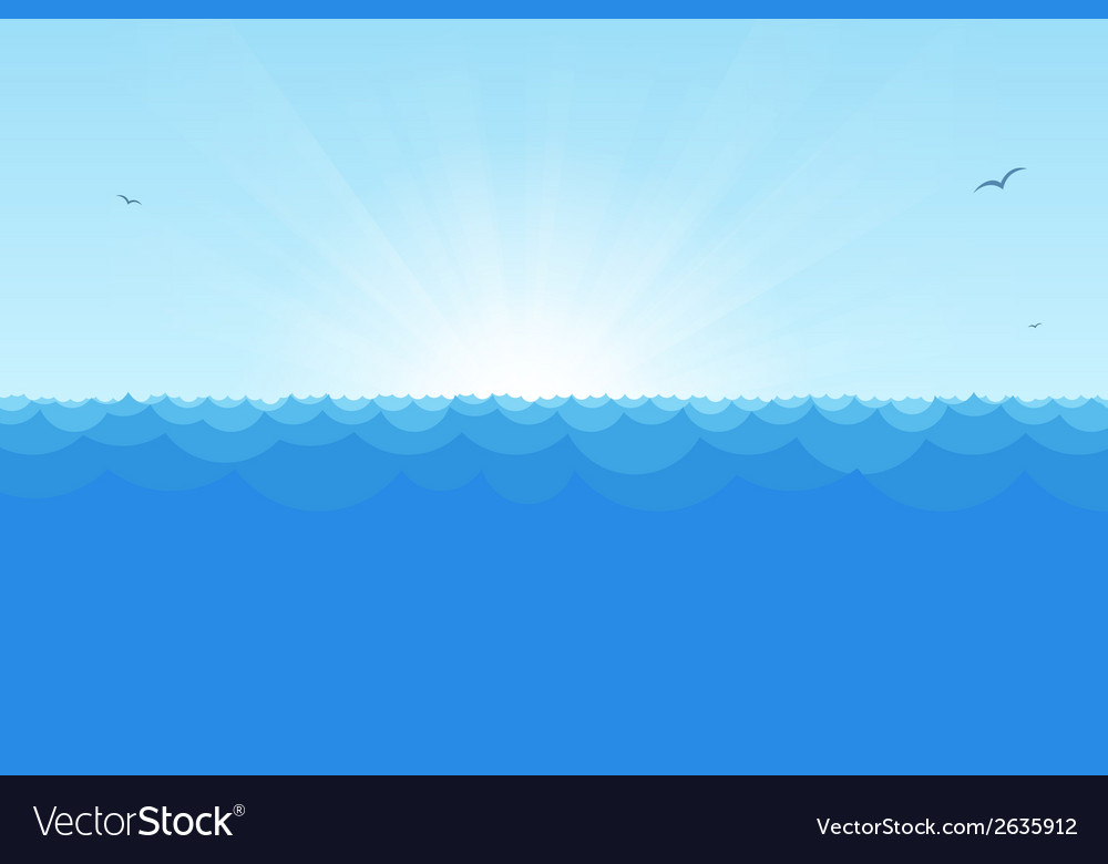 Sea simple background copy vector