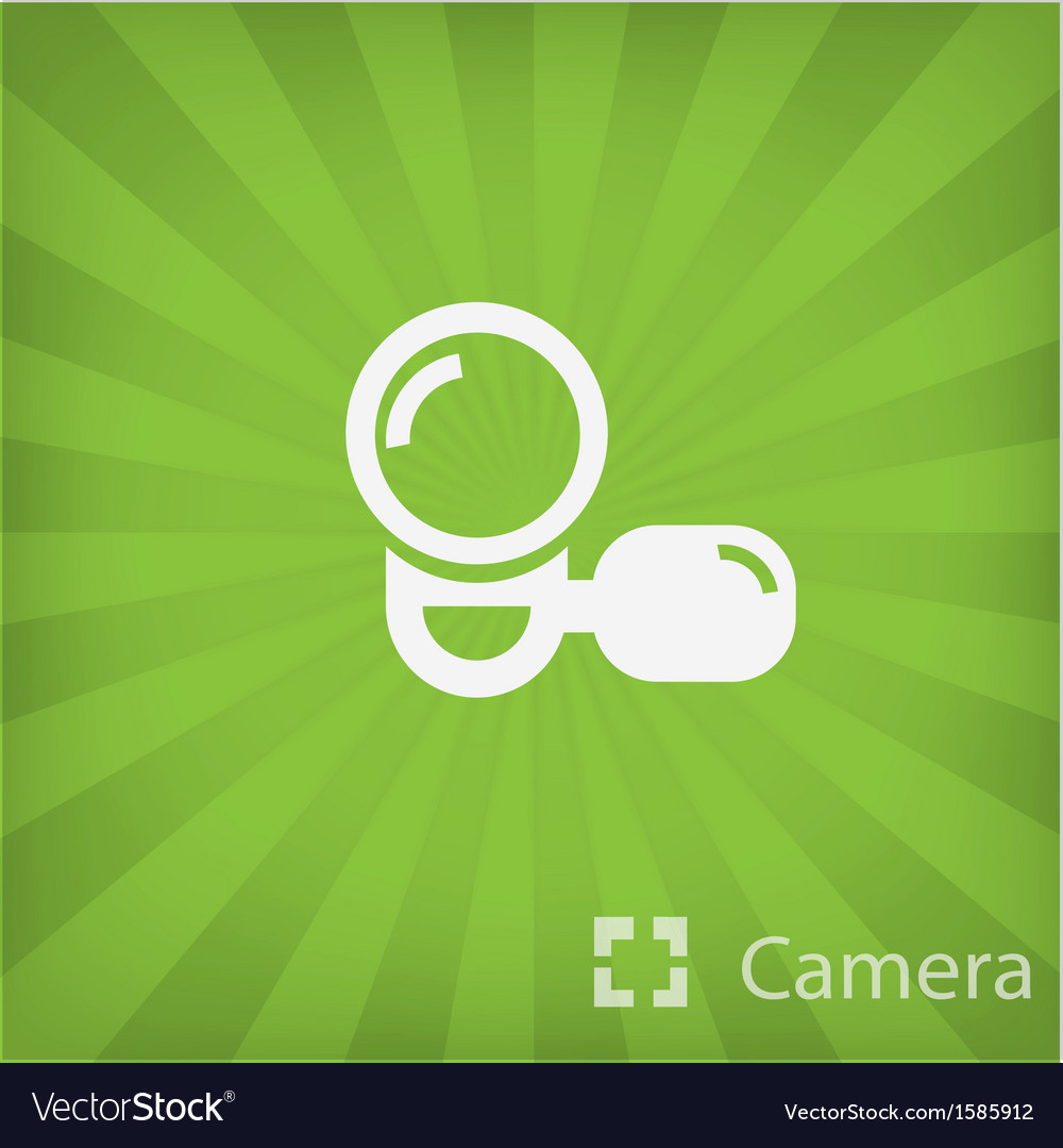 Video camera icon in minimal style vector | Price: 1 Credit (USD $1)