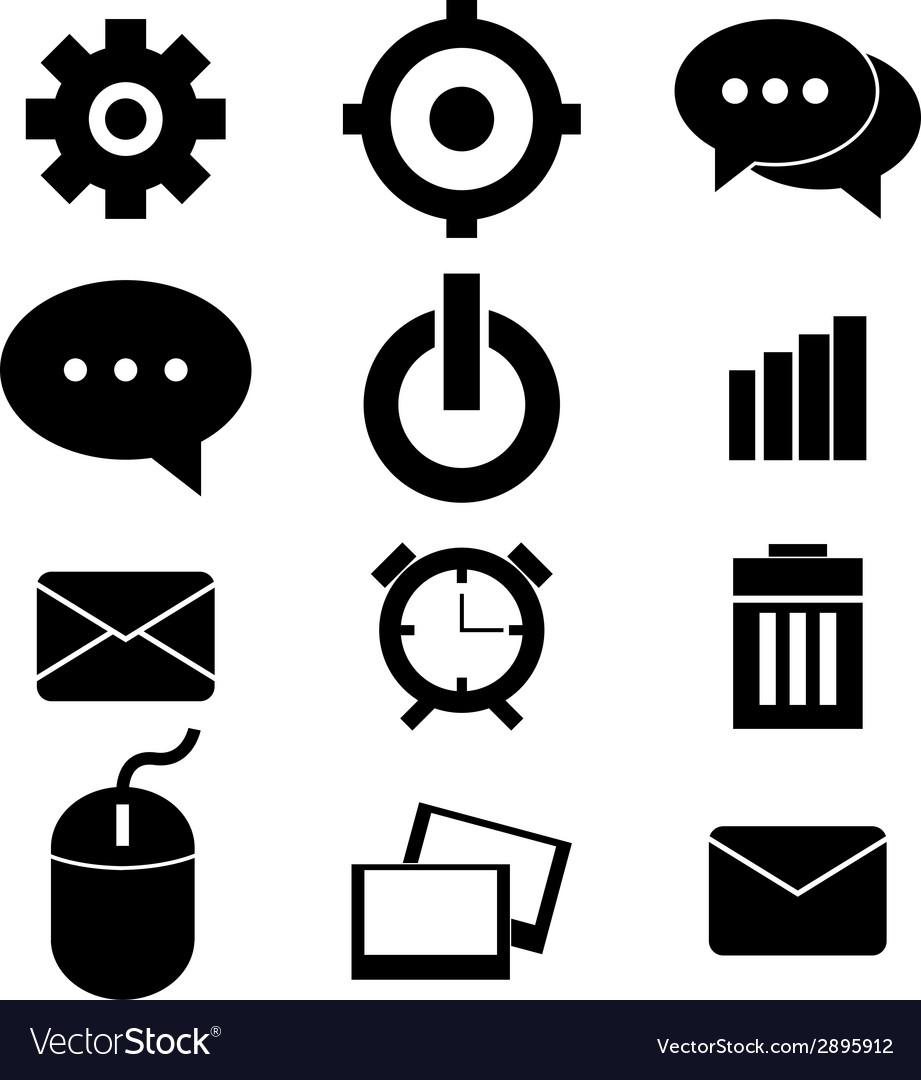 Web design icon set vector | Price: 1 Credit (USD $1)