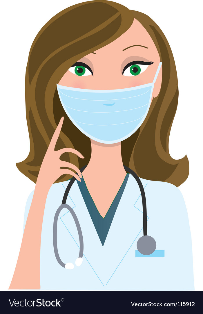 Woman medical mask vector | Price: 3 Credit (USD $3)