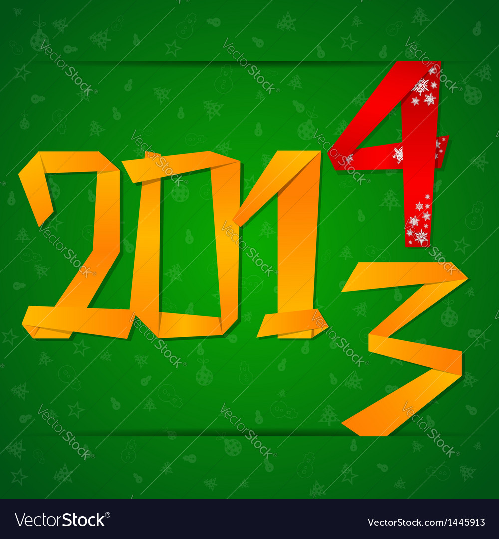 2014 new year card with figures falling down vector | Price: 1 Credit (USD $1)