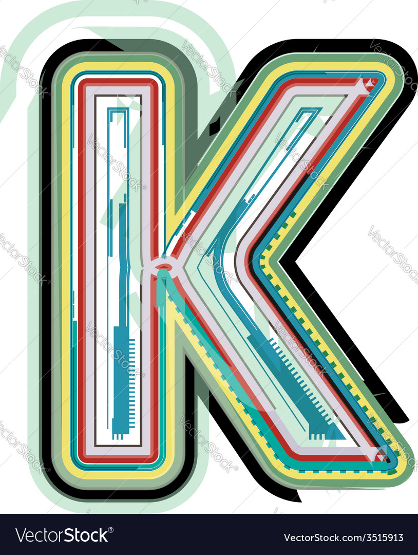 Abstract colorful letter k vector | Price: 1 Credit (USD $1)