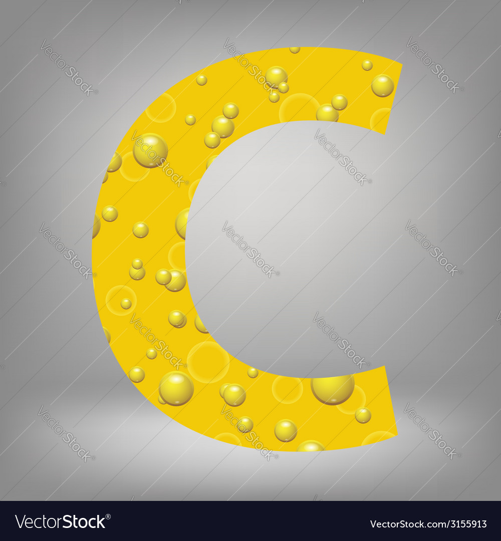Beer letter c vector | Price: 1 Credit (USD $1)
