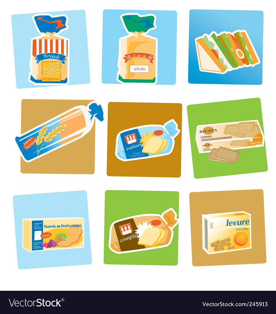 Bread and crackers vector | Price: 1 Credit (USD $1)