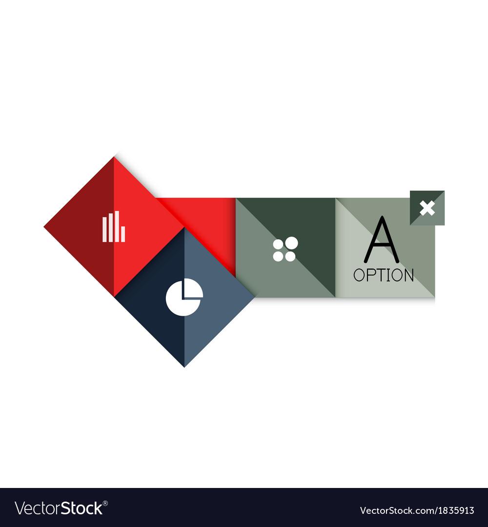 Creative paper flat geometric banner template vector | Price: 1 Credit (USD $1)