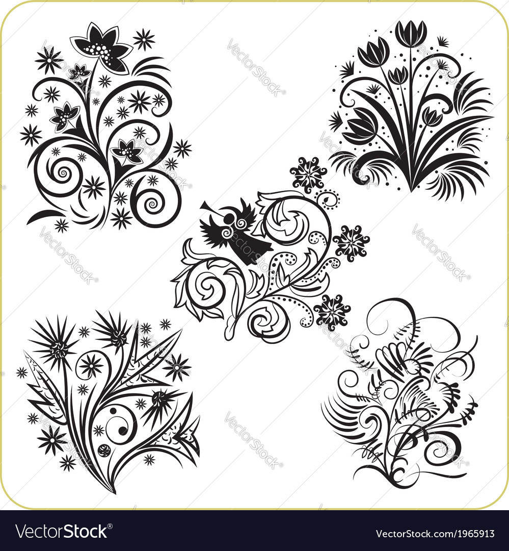 Floral design - set easter symbols vector | Price: 1 Credit (USD $1)