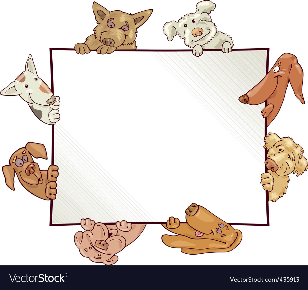 Frame with dogs vector | Price: 3 Credit (USD $3)