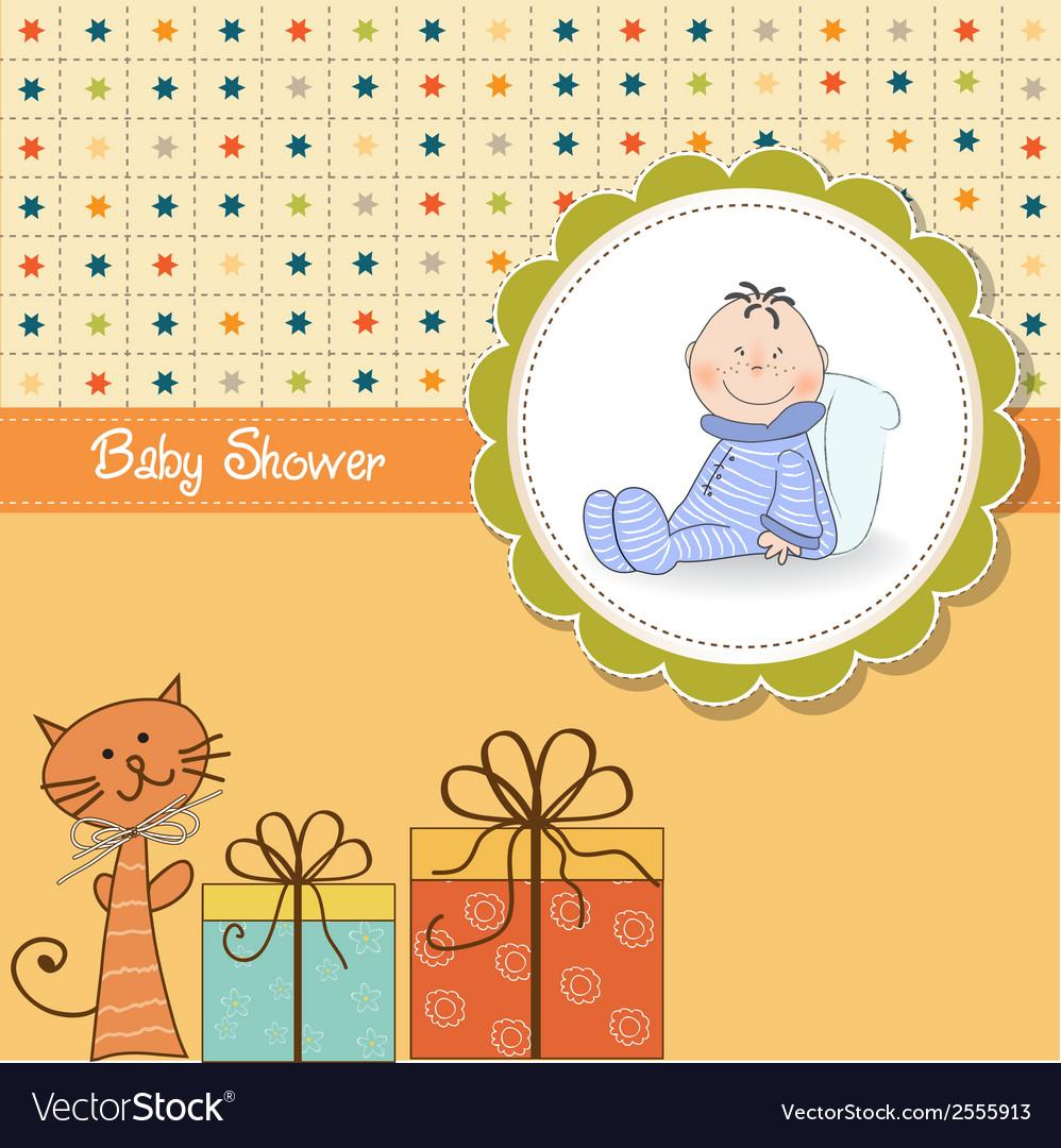 Funny cartoon baby shower card vector | Price: 1 Credit (USD $1)