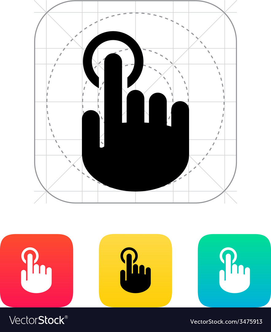 Hand finger id icon hand pointer symbol vector | Price: 1 Credit (USD $1)