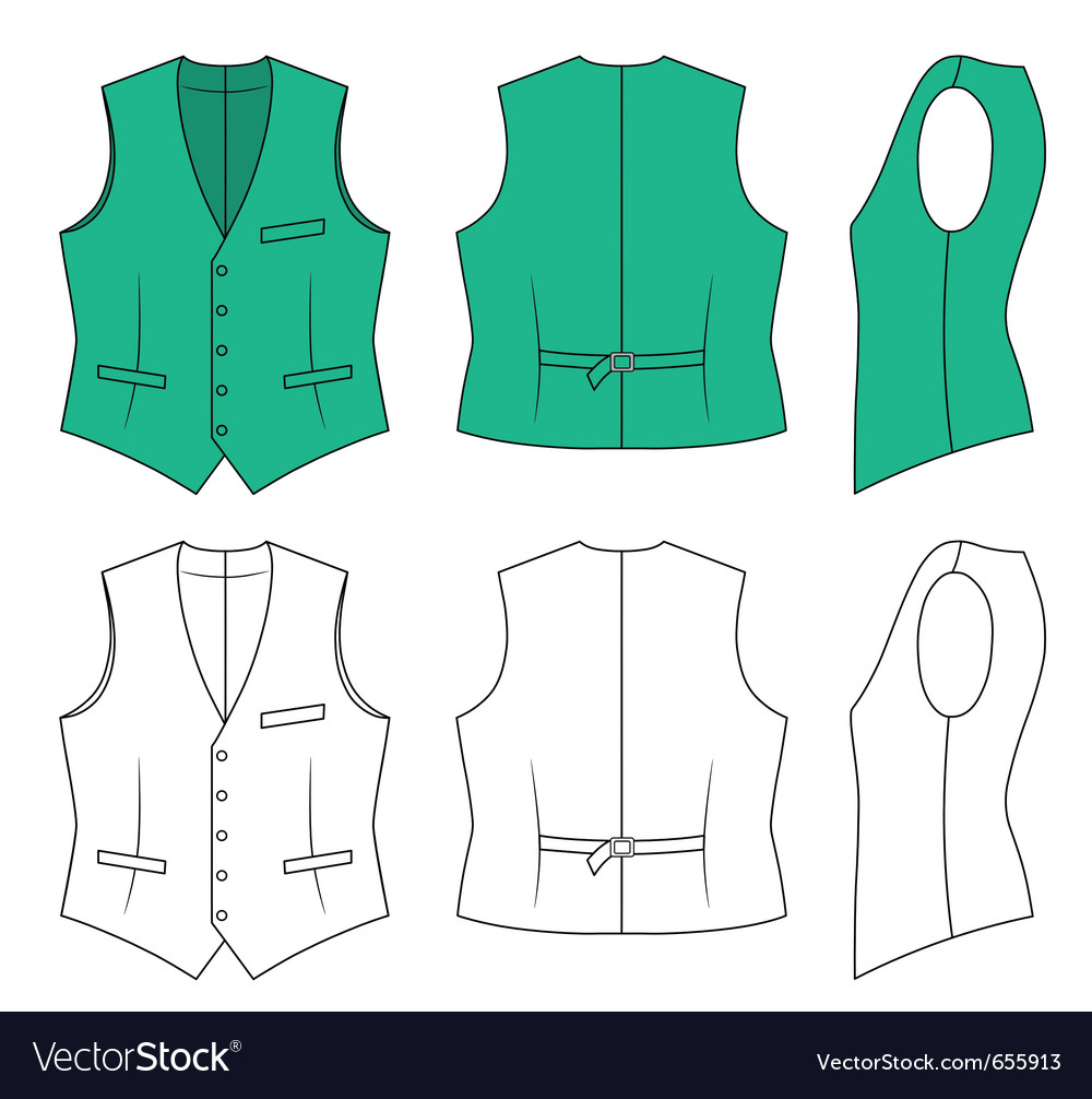 Man green waistcoat vector | Price: 1 Credit (USD $1)