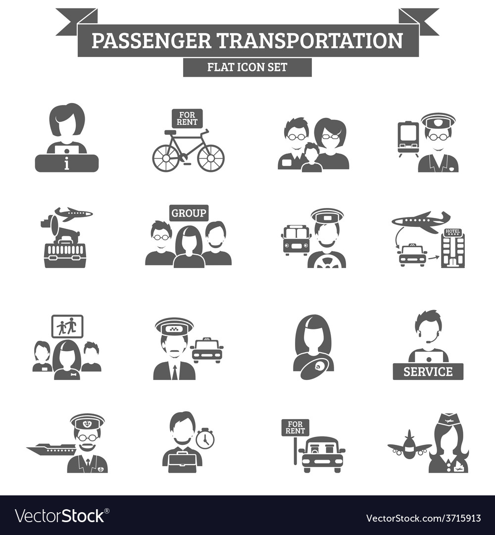 Passenger transportation icon vector | Price: 1 Credit (USD $1)