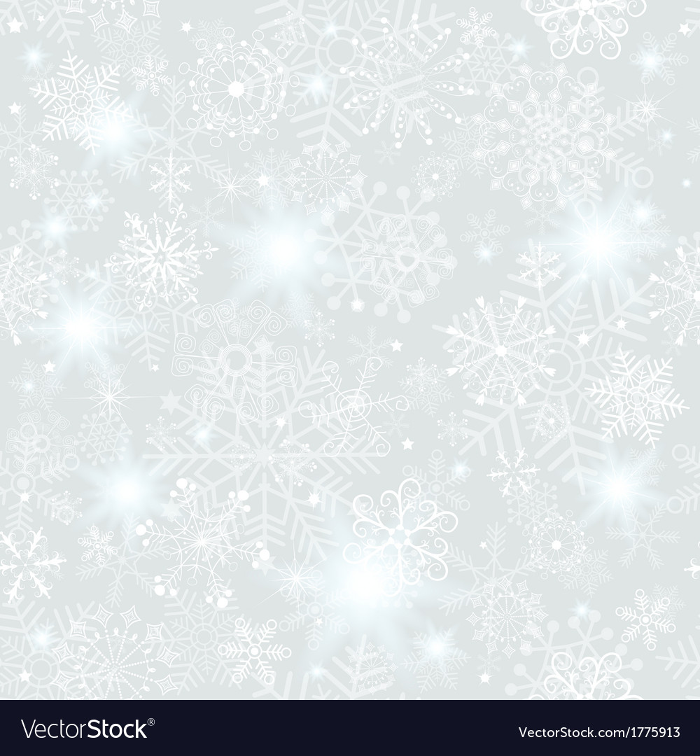 Seamless silvery christmas pattern vector | Price: 1 Credit (USD $1)